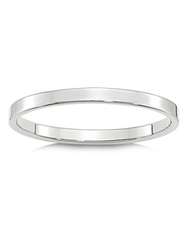 Bloomingdale's - Men's 2mm Lightweight Flat Band in 14K White Gold or 14K Yellow Gold - 100% Exclusive