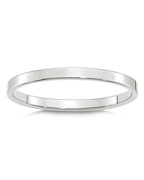 Bloomingdale's - Men's 2mm Lightweight Flat Band in 14K White Gold - 100% Exclusive
