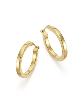 Bloomingdale's - 14K Yellow Gold Square Tube Hoop Earrings - 100% Exclusive