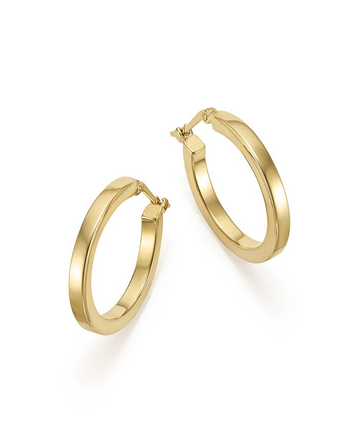 14k Yellow Gold Square Hoop Earrings 100 Exclusive