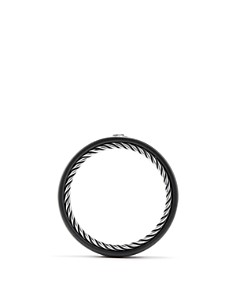 David Yurman - Men's Streamline Band Ring with Black Diamond