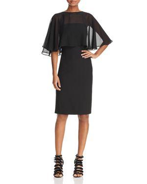 nanette Nanette Lepore Chiffon Overlay Dress