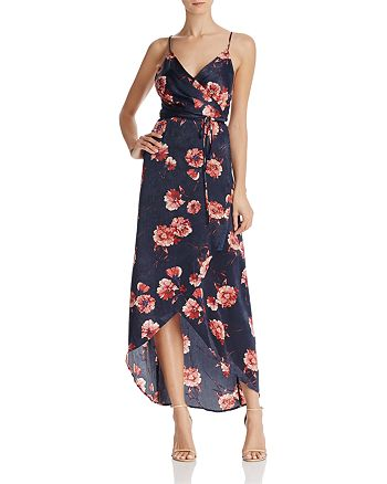 Cotton Candy LA - Floral Print Maxi Wrap Dress