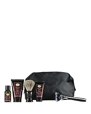 The Art of Shaving Travel Kit with the Morris Park Collection Razor offers the 4 Elements of the Perfect Shave in Tsa-approved travel sizes. The Travel Kit is a perfect initiation to The Art of Shaving regimen. This kit includes a Morris Park Collection Razor in black, a shaving brush, a black travel bag made of nylon with faux leather trim, a 1 oz. Pre-Shave Oil - Sandalwood, a 1.5 oz. Shaving Cream - Sandalwood and a 1 oz. After-Shave Balm - Sandalwood. This set will deliver the clean close an