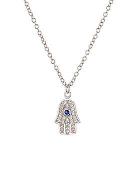 "AQUA - Sterling Silver Pendant Necklace, 15"" - 100% Exclusive"