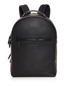 Salvatore Ferragamo - Firenze Pebbled Leather Backpack