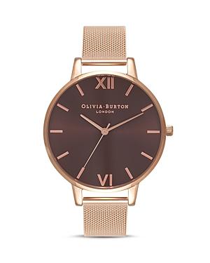 Olivia Burton Chocolate Dial Watch, 38mm
