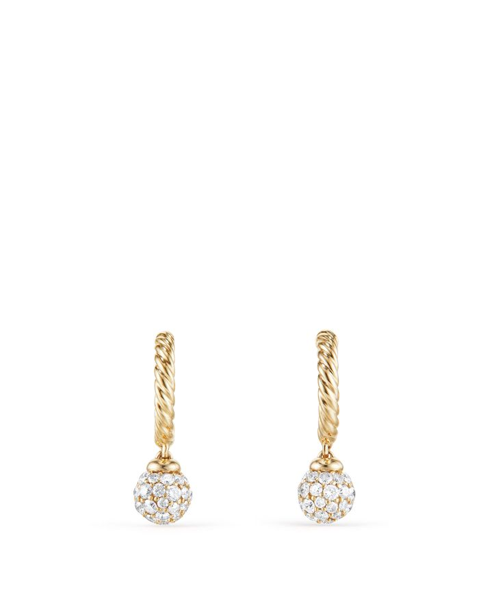 David Yurman Solari Hoop Pavé Earrings with Diamonds in 18K Gold   | Bloomingdale's