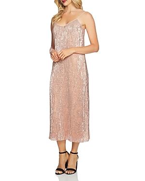 1.state Sequined Midi Slip Dress