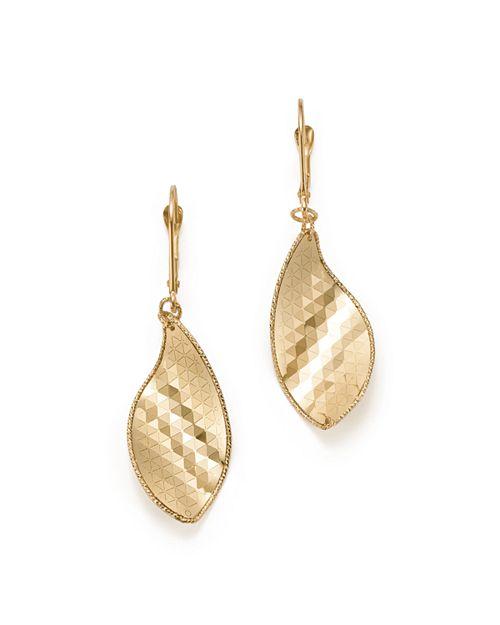 Bloomingdale's - Geometric Leaf Earrings in 14K Yellow Gold - 100% Exclusive