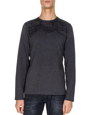 The Kooples Dragon Embroidered Long-Sleeve Tee thumbnail