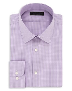 The Men's Store at Bloomingdale's Micro Gingham Regular Fit Dress Shirt - 100% Exclusive_0