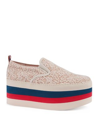 Peggy on Platform Lace Sneakers