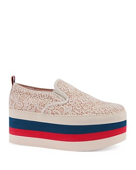Gucci - Women's Peggy on Platform Lace Sneakers