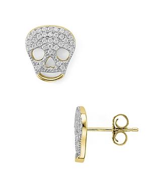Sterling Silver Skull Stud Earrings