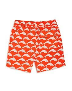 TOM & TEDDY - Boys' Dolphin Print Swim Trunks - Big Kid