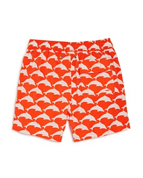 TOM & TEDDY - Boys' Dolphin Print Swim Trunks - Big Kid