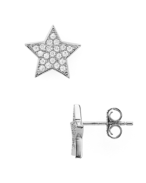 Aqua Sterling Silver Star Stud Earrings - 100% Exclusive