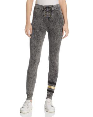 Sundry Foil-Stripe Super-Skinny Sweatpants