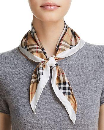 Burberry - Vintage Check Silk Bandana Scarf