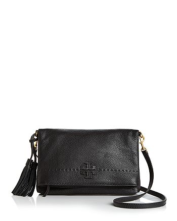 07317b6d6d4f Tory Burch - McGraw Fold-Over Leather Crossbody