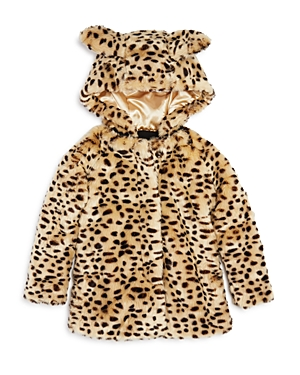 Bardot Junior Girls' Leopard-Print Coat with Ears, Little Kid - 100% Exclusive