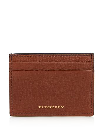 Burberry - Grainy Leather and Canvas Check Card Case