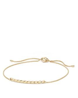 David Yurman - Paveflex Station Bracelet in 18K Gold
