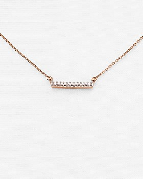 049c5a644e8c Adina Reyter - 14K Rose Gold Pavé Diamond Bar Necklace