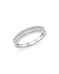 Bloomingdale's - Diamond Round & Baguette Band in 14K White Gold, 0.25 ct. t.w. - 100% Exclusive