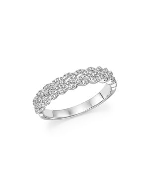 Bloomingdale's Diamond Braided Band in 14K White Gold, 0.33 ct. t.w. - 100% Exclusive