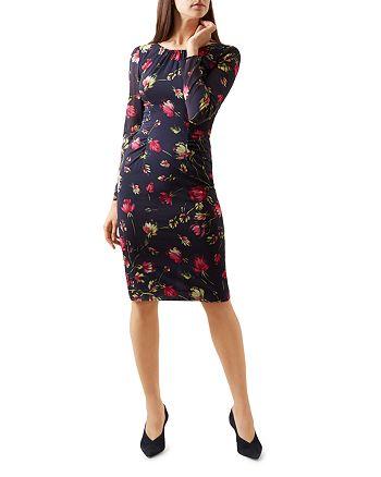 HOBBS LONDON - Rori Printed Silk-Blend Dress