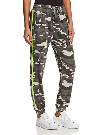 Honey Punch - Camo Striped Sweatpants