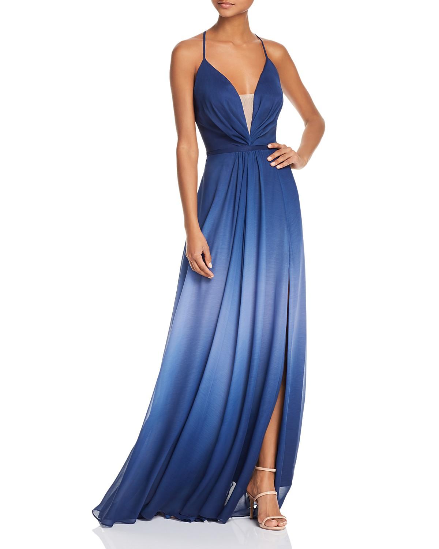 Aqua Ombr Tie Back Gown 100 Exclusive Bloomingdales