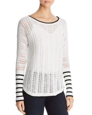 $Heather B Boatneck Open-Weave Sweater - Bloomingdale's