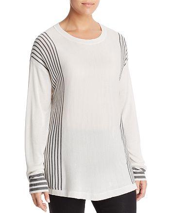 B Collection by Bobeau Curvy - Cleo Stripe Lightweight Sweater
