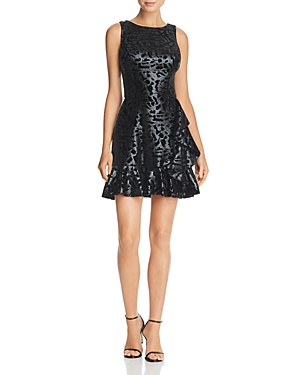 Aqua Flocked Cheetah Print Dress - 100% Exclusive