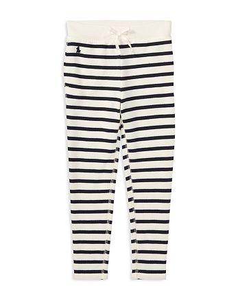 Ralph Lauren - Girls' Striped French Terry Leggings - Little Kid