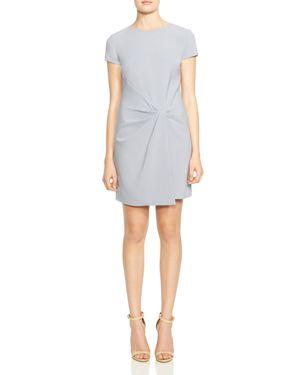 Halston Heritage Drape-Detail Crossover Dress