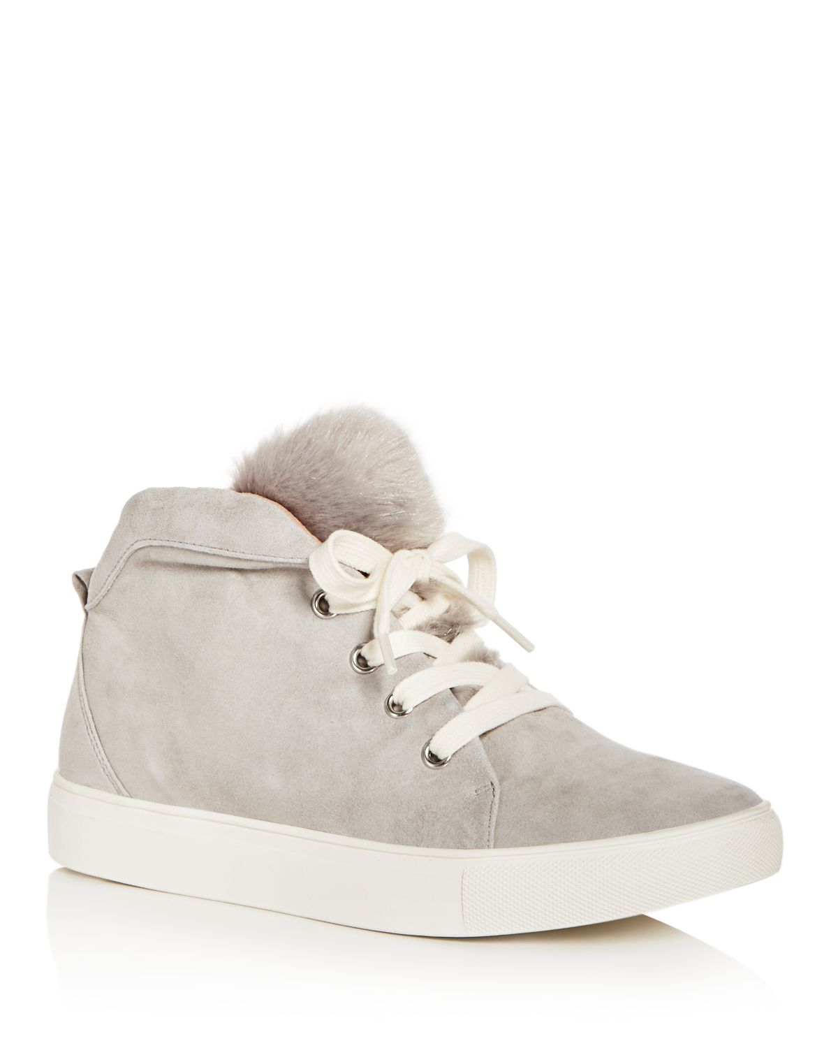JAGGAR Women's Suede & Faux-Fur Mid Top Sneakers