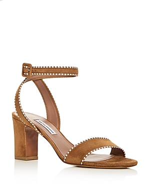 Tabitha Simmons Women's Leticia Suede Ankle Strap High Heel Sandals