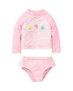 Little Me Girls' Striped Daisy Rash Guard & Bottoms Set - Baby - Bloomingdale's_0