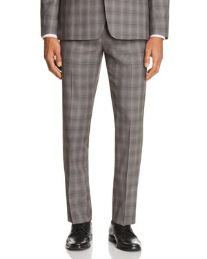 Theory Marlo Tonal Check Plaid Slim Fit Suit Separate Dress Pants