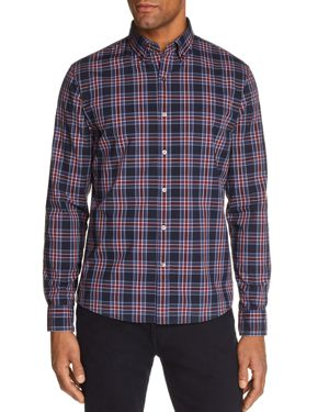 Michael Kors Acton Check Slim Fit Long Sleeve Button-Down Shirt - 100% Exclusive