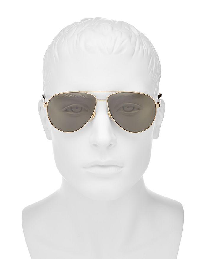 ddef954b87 Gucci - Men s Retro Signature Stripe Mirrored Brow Bar Aviator Sunglasses