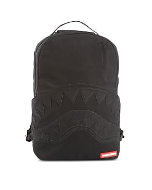 Sprayground Unisex Black Ghost Nubuck Shark Backpack