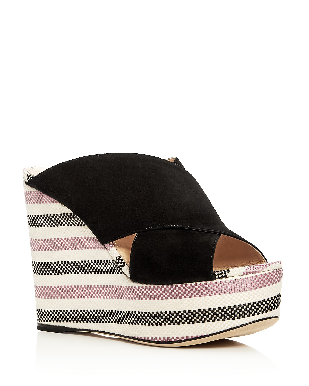 Sergio Rossi Women's Alma Suede Wedge Platform Slide Sandals - 100% Exclusive ahBBQdb1QC
