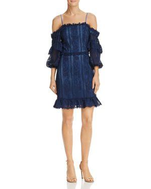 Parker Irma Cold-Shoulder Lace Dress
