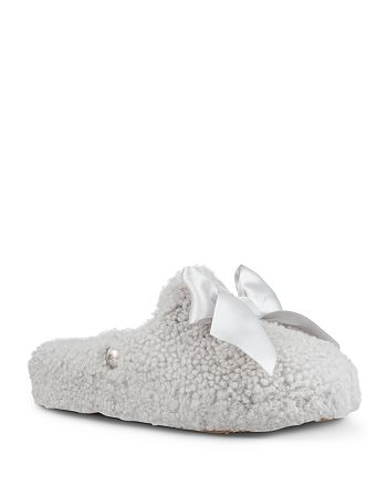 7c5e9893e30 UGG® Women's Addison Sheepskin & Satin Slippers | Bloomingdale's