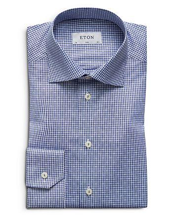 Eton - Stripe Dobby Check Slim Fit Dress Shirt